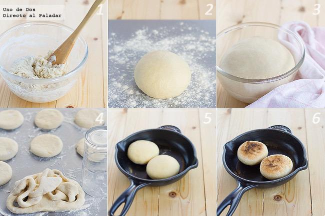 Receta de english muffins paso a paso