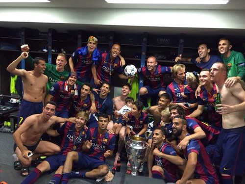 El triplete del Barça bien vale una celebración a lo grande
