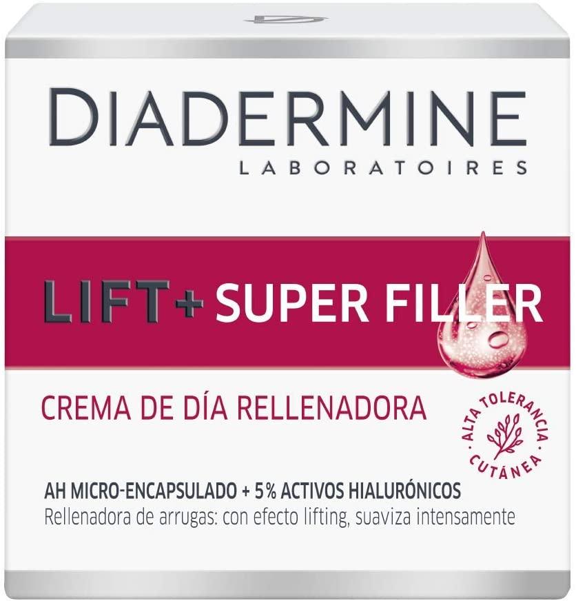 Diadermine Lift+ Super Rellenador Crema de Noche, con Micro Cápuslas de Ácido Hialurónico, para Pieles Maduras, Acción Antiarrugas