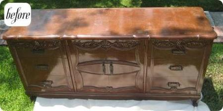 Antes y despu s muebles de madera lacados - Como lacar un mueble de madera ...