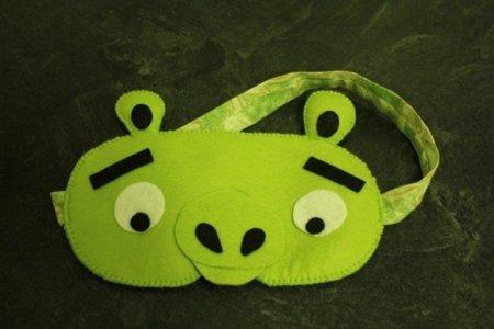El antifaz del cerdo, del cerdo de Angry Birds