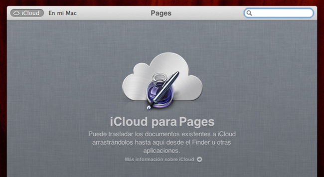 Pages para OS X Mountain Lion con documentos en iCloud
