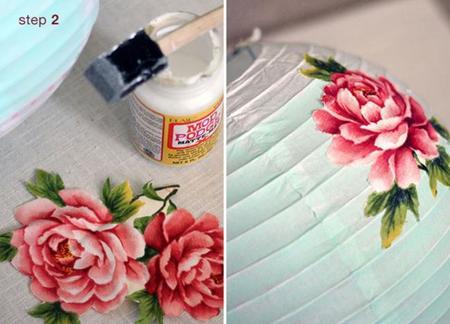 Personaliza unos farolillos de papel