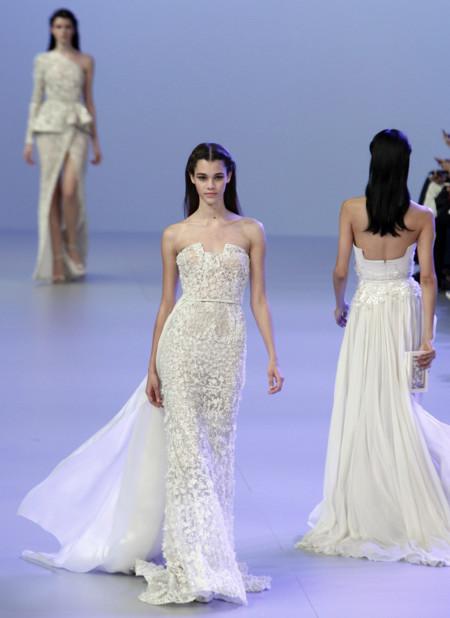 Diseño blanco Elie Saab Primavera-Verano 2014