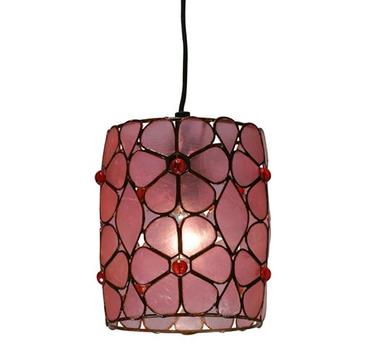 Lámpara rosa de flores para un ambiente bohemio