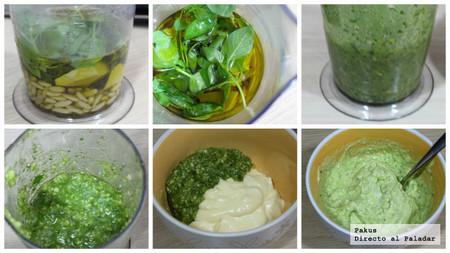 salsa mayopesto paso-paso