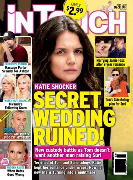 Katie Holmes y su mirada de recelo ¿para?