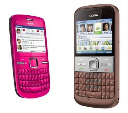 Nokia C3 y E5, dos nuevos terminales con teclado físico completo