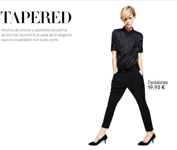 pantalon H&M tapered