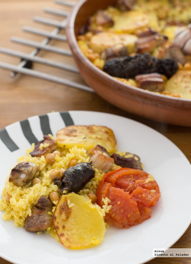 Receta tradicional de arroz al horno - presentación