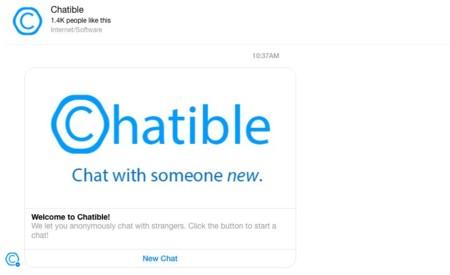 ¿Chatear con desconocidos en Facebook Messenger? El bot Chatible lo hace posible
