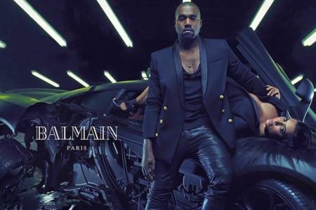 Kim Kardashian Kanye West Balmain Full Ad Campaign 3