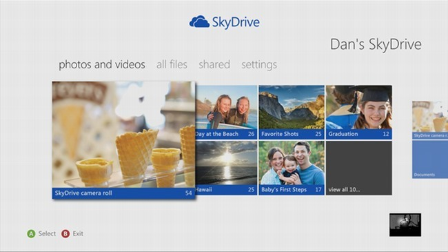 skydrive xbox 360