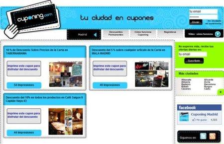Cuponing: una web de ofertas colaborativas y cupones de descuento