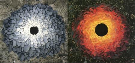 Con manos y dientes: así crea Andy Goldsworthy estas maravillosas composiciones de naturaleza