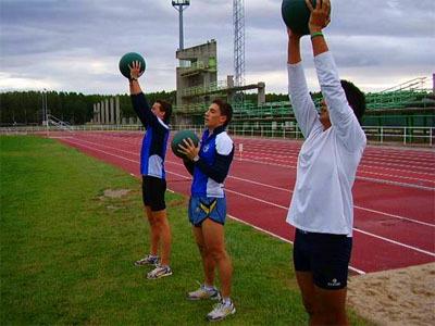Balón medicinal, una forma diferente de entrenar