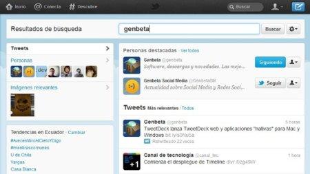 La búsqueda en el nuevo Twitter