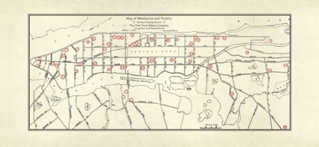 Así era la red de recarga para coches eléctricos de Manhatan en... 1923