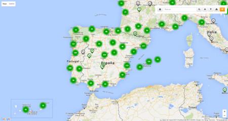 Coches eléctricos: Noruega / España - Puntos Recarga