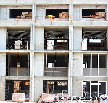Edificio de lofts en construcción