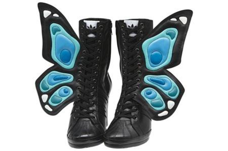 Las zapatillas mariposa de Jeremy Scott para Adidas