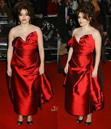 Helena Bonham Carter o cómo no vestir para una alfombra roja