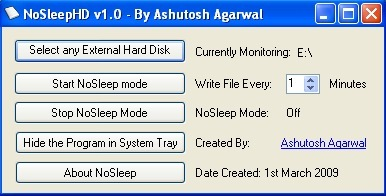 No dejes que se apague tu disco duro externo con NoSleepHD