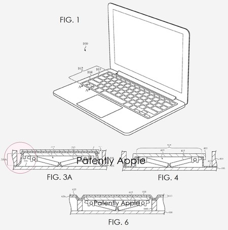 Patente Apple Teclado Impermeable