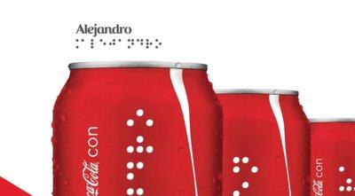 Coca-Cola piensa en todo su público, y edita latas en braille