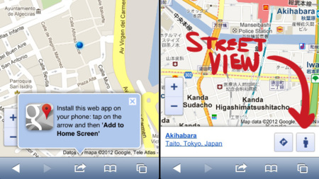 Street View en la versión móvil de iOS 6 (iPhone 5)