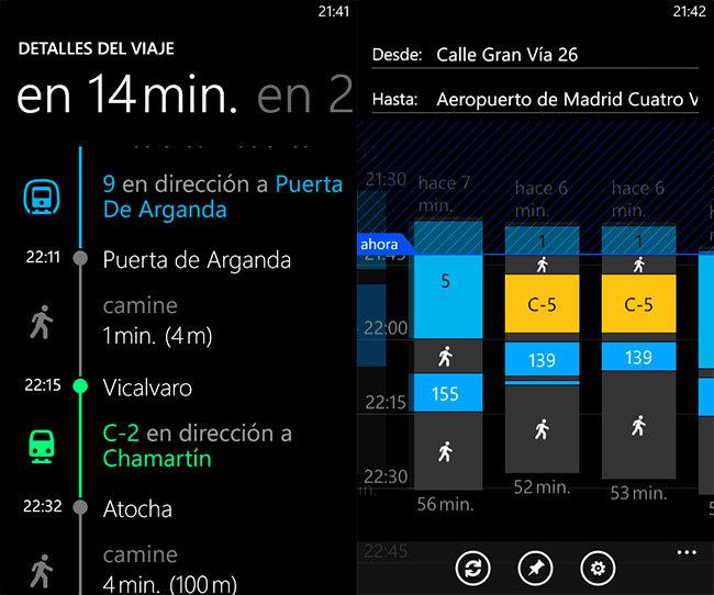 Nokia Lumia 620, tranporte