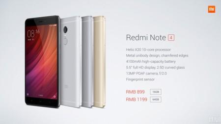 Xiaomi Redmi Note 4 Especificaciones