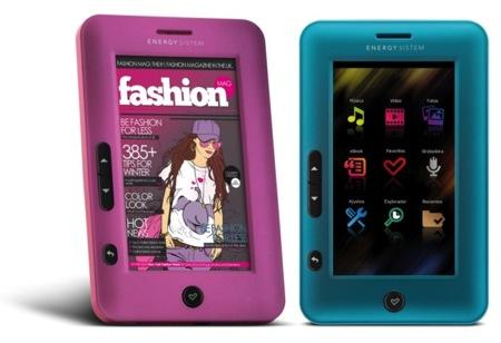Energy eReader C4 Touch, un lector colorido y llamativo