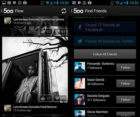 La aplicación de 500px para Android se actualiza de nuevo con importantes novedades