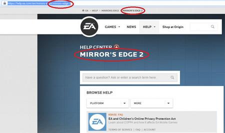EA coloca 'Mirror's Edge 2' en su web oficial