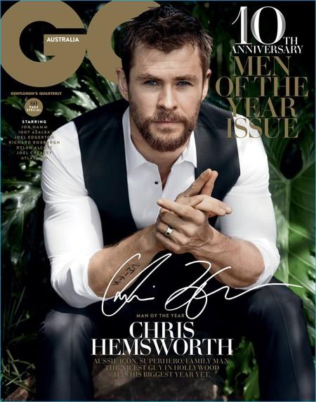 Chris Hemsworth elegido hombre del año por GQ Australia