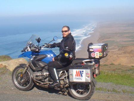 América en moto. Point Reyes. La playa de Francis Drake