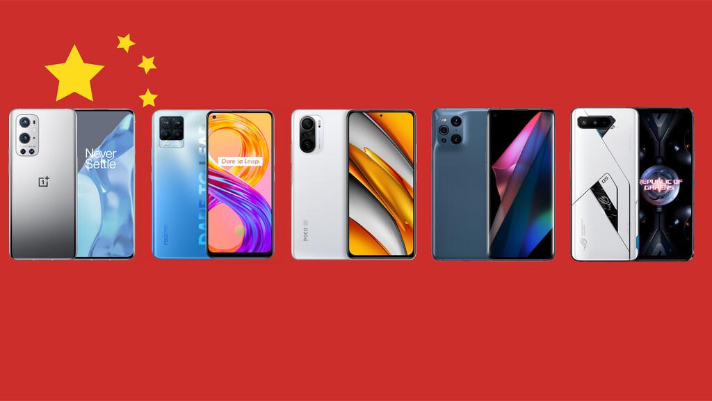 Los mejores móviles chinos de 2021