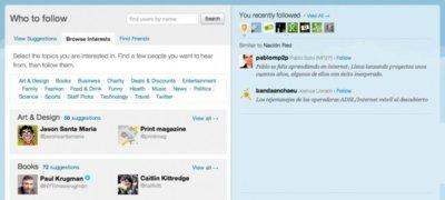 Twitter está probando Who To Follow, una nueva pestaña con sugerencias sobre usuarios a seguir