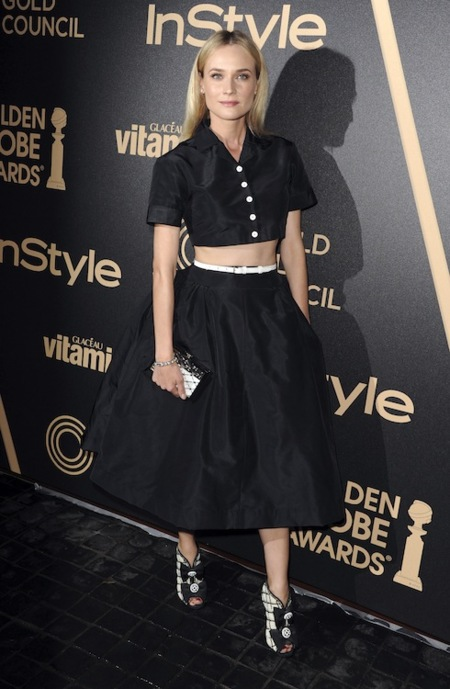 """El atrevido """"New Look"""" de Diane Kruger en los InStyle's Golden Globe award"""