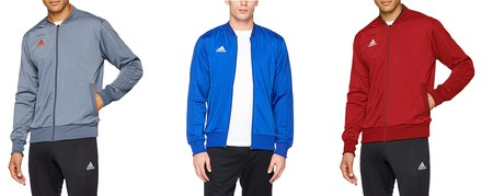 Tenemos esta chaqueta de chándal Adidas  Con18 PES Jkt en varios colores desde 21,77 euros en Amazon