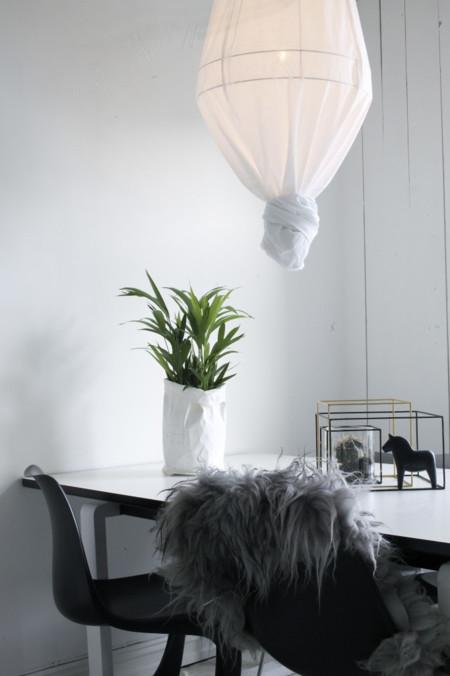 Lámparas cubiertas de tela, ¿comprar o DIY?