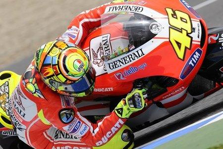Valentino Rossi estará hoy en Jerez probando la Ducati Desmosedici GP12