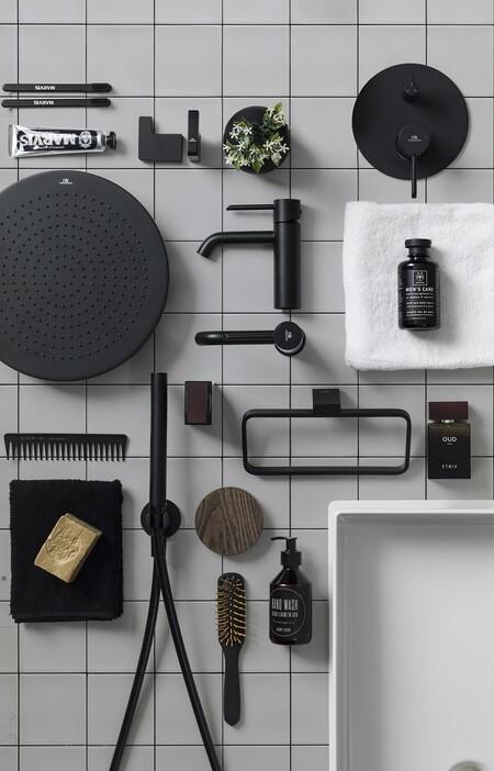 Tendencia negro mate en el baño