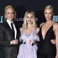 Trío de ases en el estreno de Bombshell: Nicole Kidman, Margot Robbie y Charlize Theron compiten en estilo