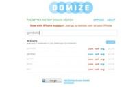 Domize, sencillo y ameno buscador de dominios libres