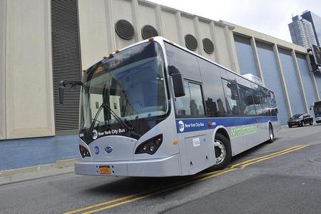 La ciudad de Nueva York evalúa el autobús eléctrico de BYD