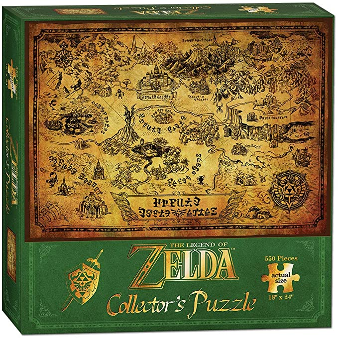 Rompecabezas The Legend of Zelda - Hyrule Map de 550 piezas (45,7 x 60,9 cm)