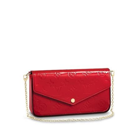 Louis Vuitton Pochette Felicie Pelle Monogram Vernis Piccola Pelletteria M61293 Pm2 Front View