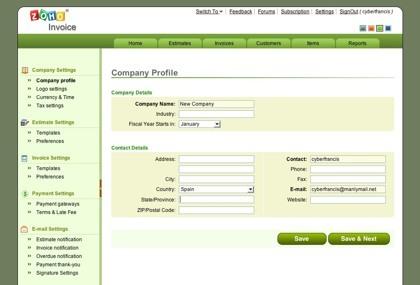 Zoho Invoice, lo nuevo de la suite Zoho para generar presupuestos y facturas
